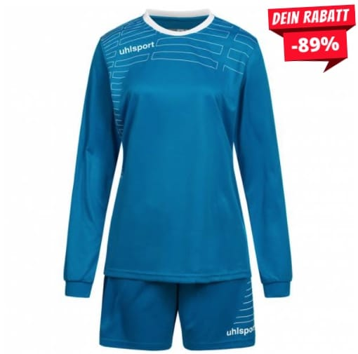 Uhlsport Match Damen Fußball Set Langarm Trikot mit Shorts