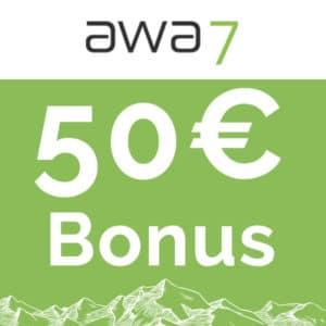 50€ Bonus & Bäume pflanzen mit der gebührenfreien awa7® VISA-Karte 🌳💳