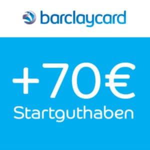 [TOP] 70€ Startguthaben 💸 Barclaycard Visa Kreditkarte (jetzt mit 100% Bankeinzug)