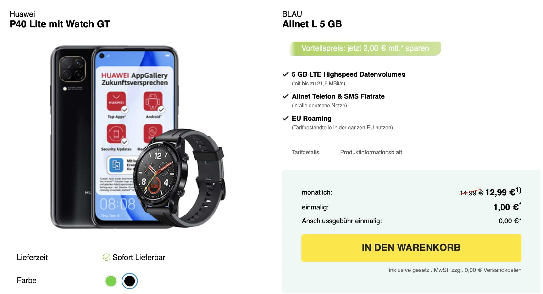 curved p40 lite watch