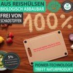 [Prime & nur heute] 🌿🧐 freegreen Schneidebrett aus Reishülsen (29x19cm)