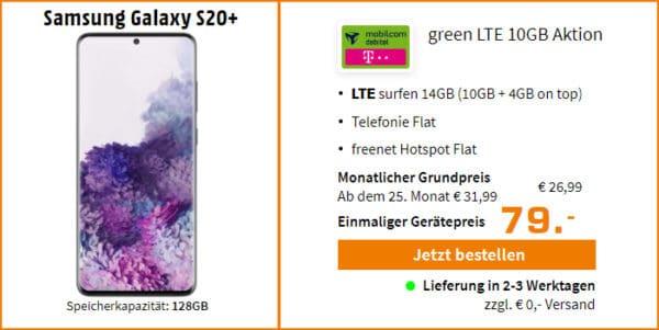 samsung galaxy s20 plus md green lte 10plus4 gb saturn