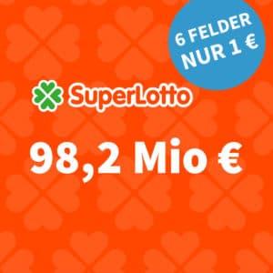 98 Mio. € Jackpot 😯 SuperLotto für nur 1€ 🍀 (Bestandskunden) // Gratis-Tipp für NK