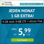 o2 LTE Allnet-Flats, z.B. 4GB für 5,99€ 🤩 6GB für 6,99€ oder 9GB für 9,99€ & mehr (Drillisch)