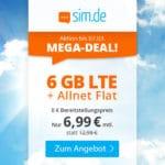 😲💥Flexible o2 6GB LTE Allnet Flat für 6,99€
