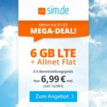 [Letzte Chance]😲💥Flexible o2 6GB LTE Allnet Flat für 6,99€