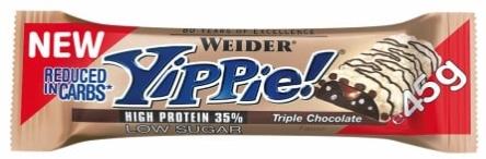24x Weider Yippie Bar Triple Chocolate