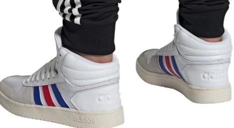 Adidas Sneakers Hoops Mid 2.0 in Weiß
