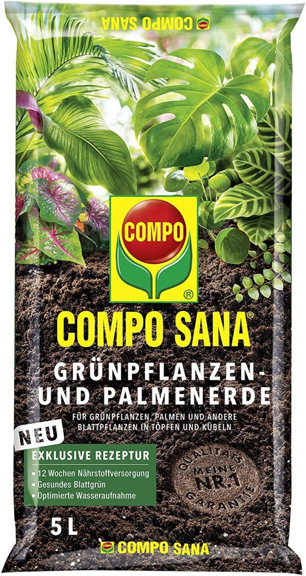 Gebrauchsfertige Spezialerde inklusive Start-Düngung für bis zu 12 Wochen, Ideal für alle immergrünen Zimmer- und Balkonpflanzen sowie für Palmen und Farne, Nicht geeignet für Moorbeetpflanzen und Aussaaten