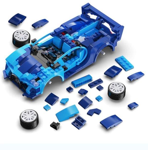 Cada RC Auto blau und gelb teile