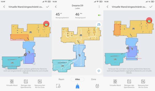 Dreame D9 Saugroboter Xiaomi Home App selektive Raumeinteilung No Go Zonen und virtuelle Waende 1536x910 1