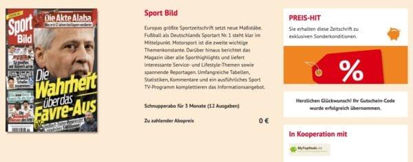 GRATIS 3 Monate Sport Bild