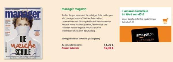 Halbjahresabo Manager Magazin