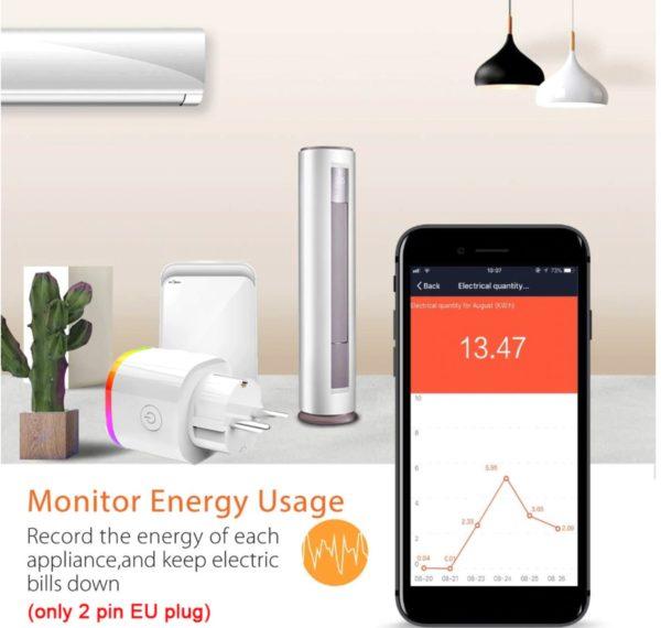 Treeye smarte Steckdose mit Alexa und Google Home Assistent deal