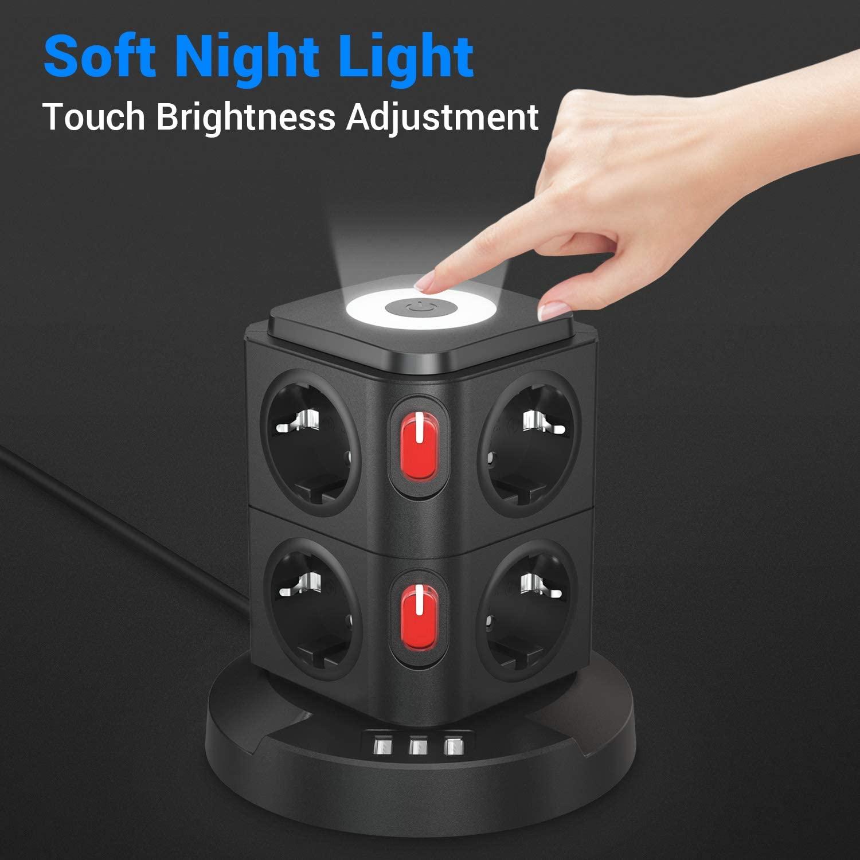 【Dimmbares Nachtlicht mit Touch Sensor】 Intelligenter sensor, berühren sie die oberseite, um ein-/auszuschalten/das Licht einzustellen. Berühren sie das bedienfeld, um 3 helligkeitsgrad von warmem weißem licht zu wechseln (Niedrig, Mittel und hoch).Die weiche dimmbare helligkeit kann Ihnen helfen, einen guten schlaf zu haben.Ideal als Orientierungslicht sowie als Schlaflicht in Kinder- und Schlafzimmern