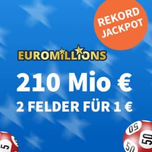 210 Mio. € Maximal-Jackpot 😱🏆 GRATIS-Tipp für Neu- & 5€Rabatt für Bestandskunden