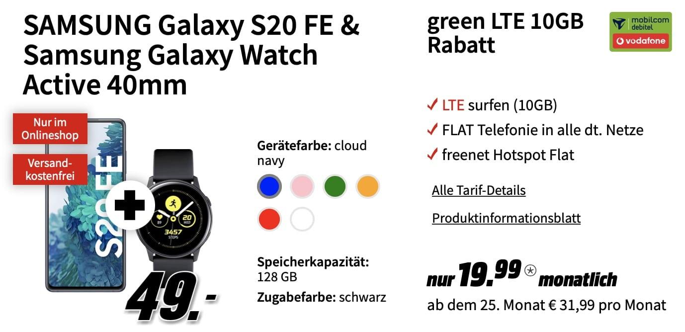 s20 fe codafone galaxy watch