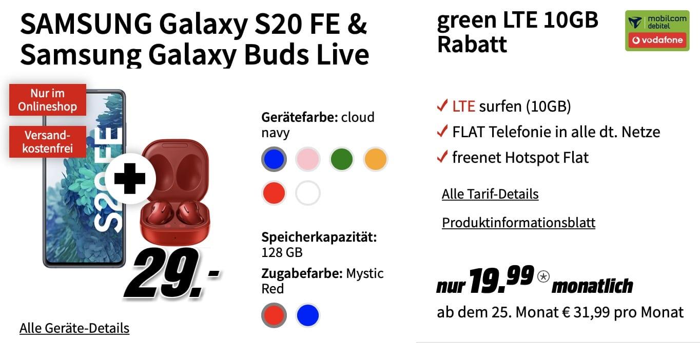 s20 fe vodafone galaxy buds
