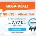😲💥Flexible o2 7GB LTE Allnet Flat für 7,77€