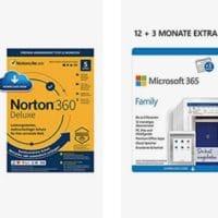 15 Monate Microsoft 365 Family (6 Nutzer) + Norton oder McAfee