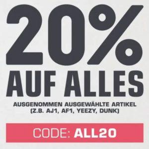 Sneaker 👟🤩 Nike Air, Adidas & mehr 👉 20% Gutschein auf alles bei Snipes