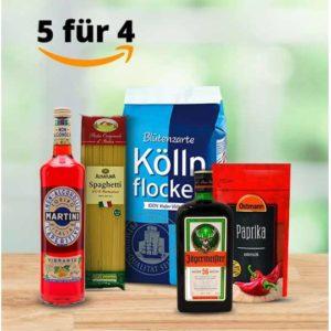 Amazon 🎉😋 5-für-4 auf Lebensmittel: Gewürze, Kaffee, Süßes, Sodastream uvm.