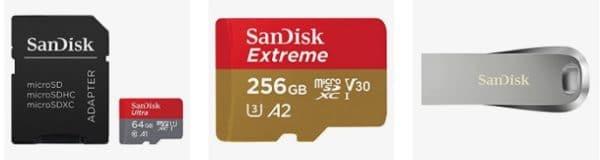 Amazon SanDisk microSDs und USB-Sticks reduziert