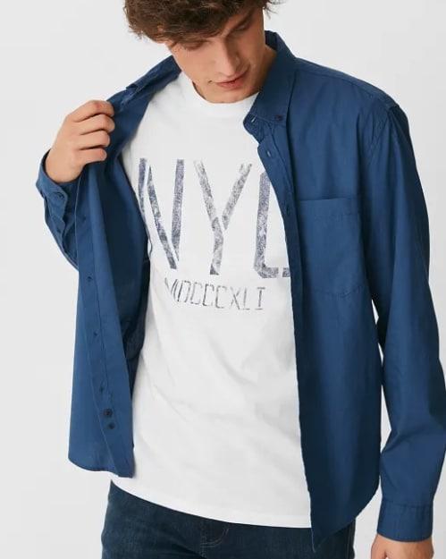 C und A Herren Hemd und T-Shirt