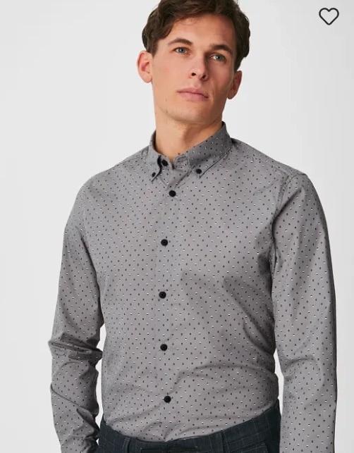 C und A Herren Slim Fit Hemd