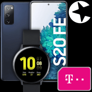 Eff. Gratis 🔥 Galaxy S20 FE (2021) + Telekom Congstar Allnet (10GB LTE) + Galaxy Watch Active2 + Nest Hub für 22€ mtl.