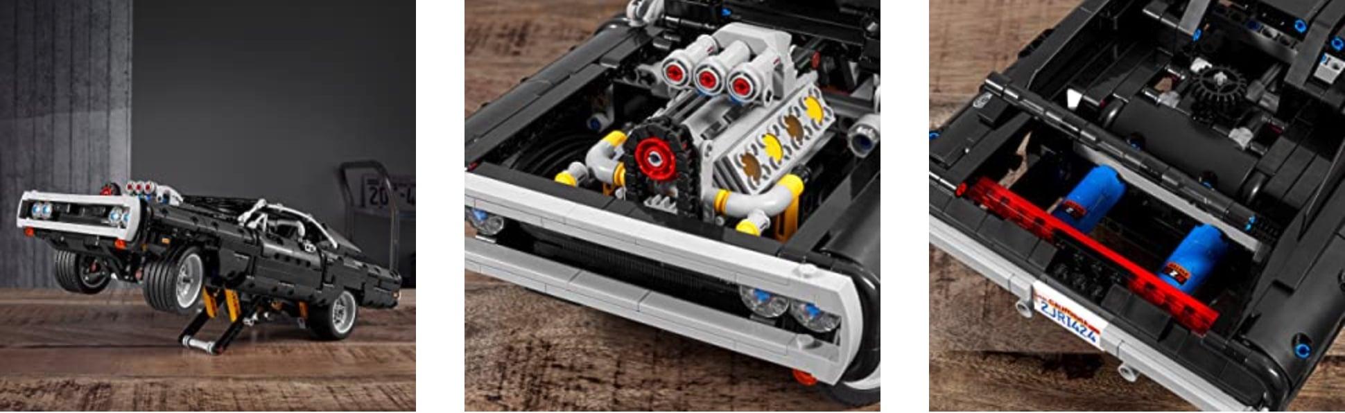 """Der LEGO Technic Modellbausatz """"Dom's Dodge Charger"""" (42111) enthält eine faszinierende Nachbildung des klassischen Muscle-Cars und inspiriert Fans dazu, ihre Lieblingsszenen aus der Filmreihe """"The Fast and the Furious"""" nachzustellen."""
