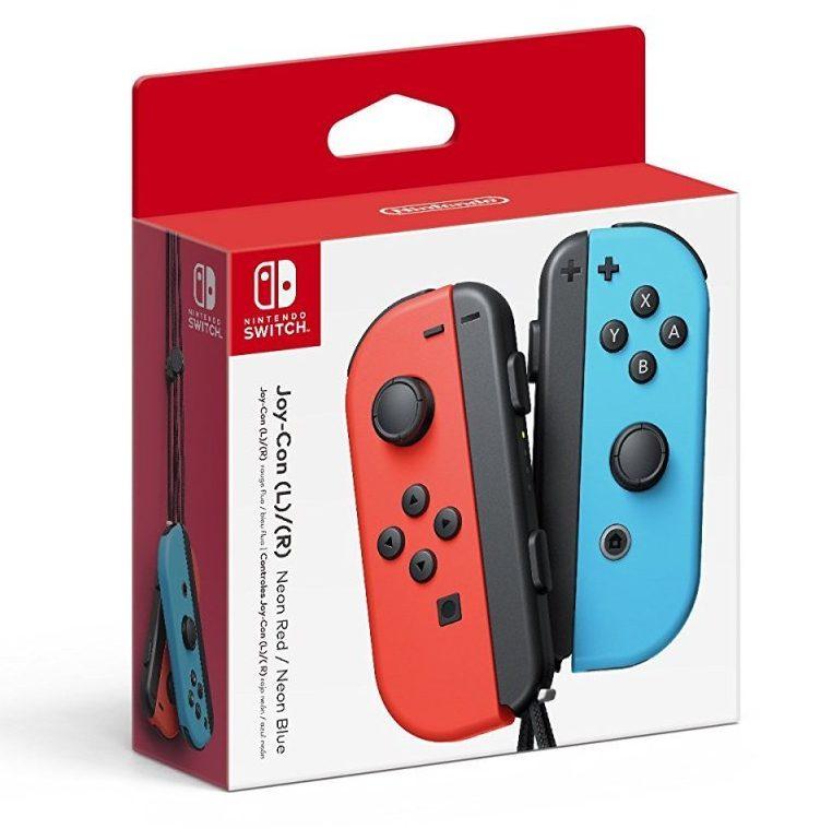 Nintendo Switch Joy Con neon rot neon blau e1615391272490