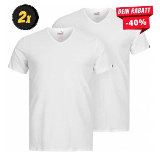 PUMA Basic V-Neck Herren T-Shirt 2er-Pack