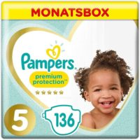 Pampers Groesse 5 Premium Protection Baby Windeln 136 Stueck MONATSBOX