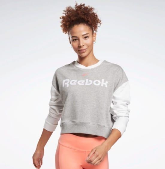 Reebok Linear Logo Damen Sweater