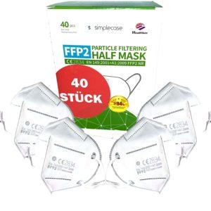 Simplecase 40 Stueck FFP2 Maske CE Zertifiziert von offiziell benannter Stelle CE2834
