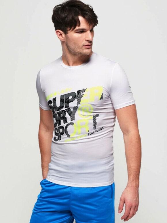 Superdry Herren Active T-Shirt Mit Grafik