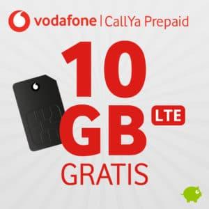 😲 3 Monate GRATIS: 10GB LTE + Allnet Vodafone CallYa Prepaid (mtl. kündbar)