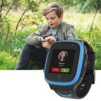 XPLORA X5 NanoSIM Smartwatch fuer Kinder ohne SIM 4G   Anrufe Nachrichten Schulmodus SOS Funktion GPS Location Kamera 2 Jahre Garantie blau