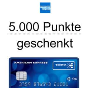 [TOP] 5.000 Punkte (= 50€ Bonus) 🤑 für die kostenlose Payback American Express 😎