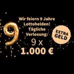 🍀💵 Sonderauslosung von tägl. 9x 1.000€ 👉 Heute mit MiniLotto (auch für Bestandskunden!)