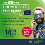 [Nur bis 18 Uhr!] o2 Unlimited Smart 😲 unlimitiertes Datenvolumen (10 Mbit/s) + keine AG für 14,99€ mtl.