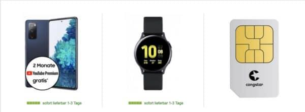 samsung s20 fe watch active2 congstar