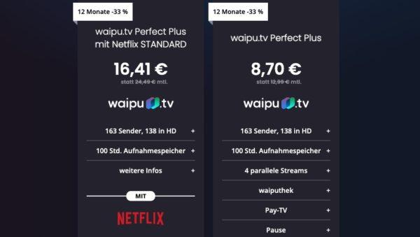 12 Monate waipu.tv Perfect Plus / Perfect Plus + Netflix
