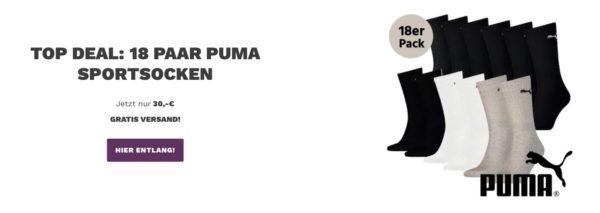 18 Puma Classic Sport Socken
