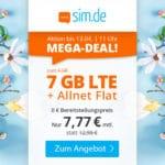 [Endspurt] 😲💥Flexible o2 7GB LTE Allnet Flat für 7,77€