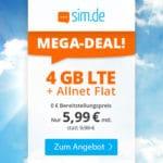 [Endspurt] o2 LTE Allnet-Flats, z.B. 4GB für 5,99€ - 20GB für 16,99€ & mehr (Drillisch)