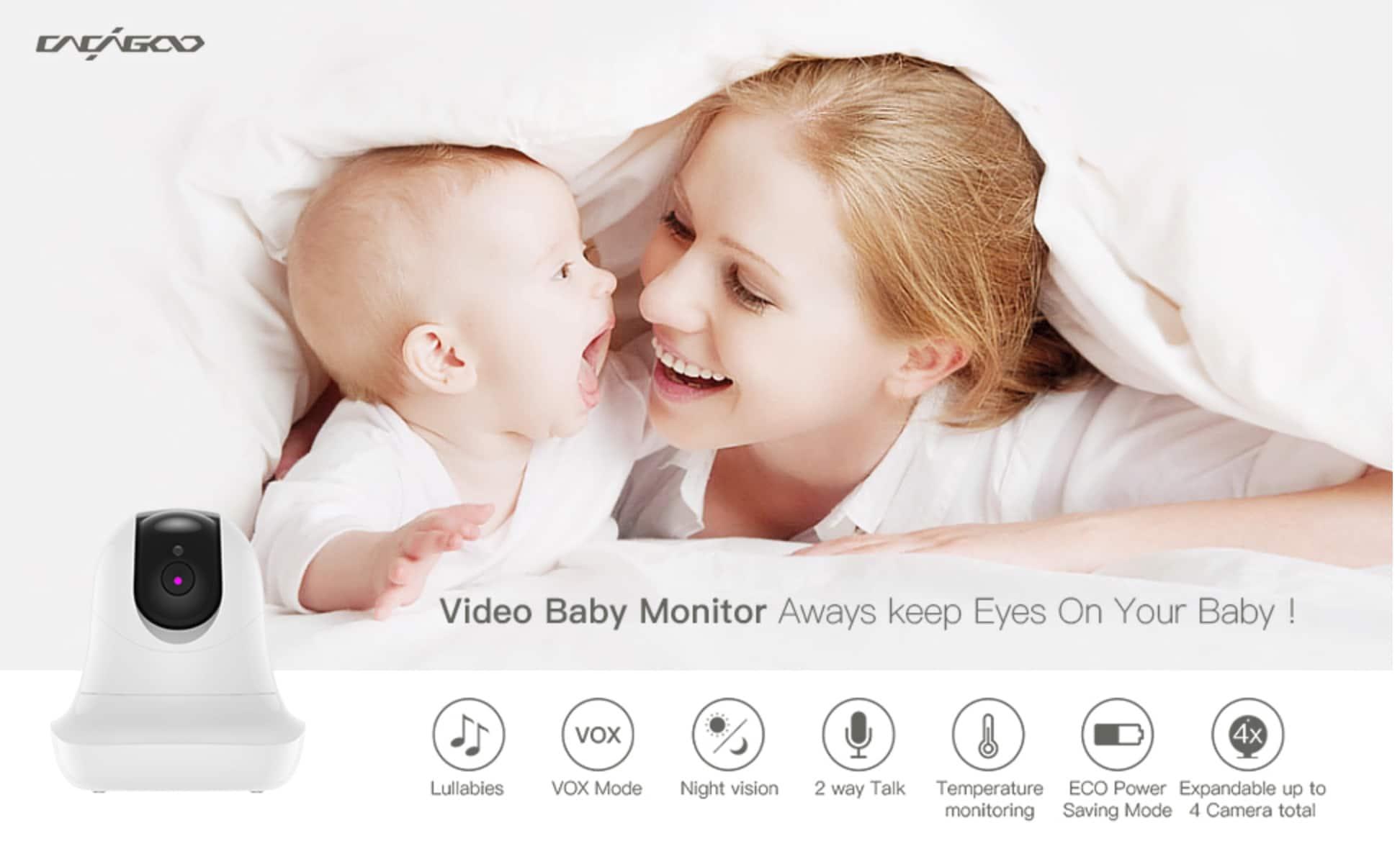 CACAGOO Babyphone mit Kamera 3.5 Cloud Speicher und Baby Monitor baby
