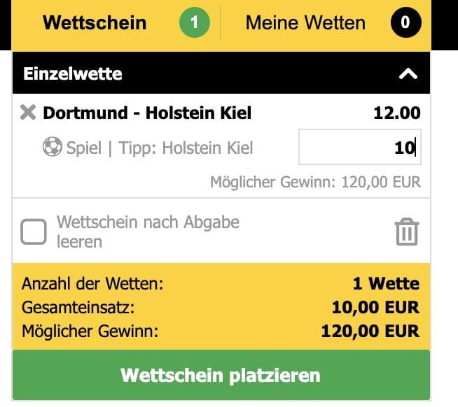 Interwetten BD DFB Pokal BVB vs Holstein Kiel