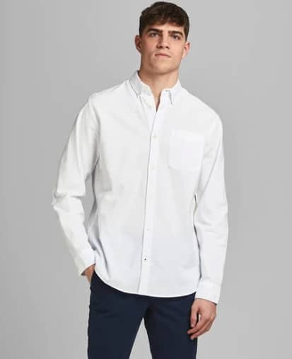 Jack & Jones Hemd OXFORD - Slim fit - Weiß